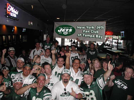 The Jets Fan Club in Full Force